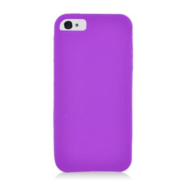 Insten Purple Soft Silicone Skin Rubber Case Cover For Apple iPhone 5/ 5C/ 5S