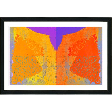 Studio Works Modern Framed Fine Art Abstract Painting 'Bird Fly' Wall Art Giclee Print by Zhee Singer