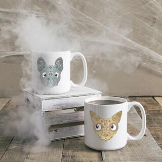 20 oz. Sugar Skull Pet Coffee Mugs (Set of 2)