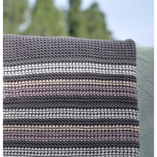 Azita Multi Grey Super Soft Cotton Throw by Pink Lemonade