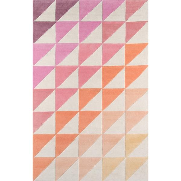 Novogratz by Momeni Delmar Asymmetric Stripe Wool Rug (8' x 10') - 8' x 10'