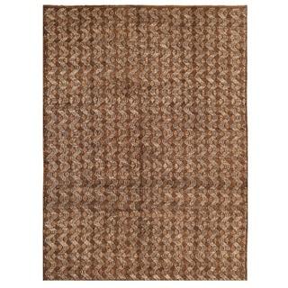 Herat Oriental Afghan Hand-knotted Vegetable Dye Shag Gabbeh Wool Rug (10'2 x 14'1)