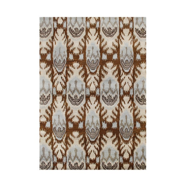 Alliyah Rugs Ikat Brown Sugar New Zealand Wool Blend Area Rug
