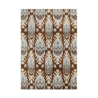 Alliyah Rugs Ikat Brown Sugar New Zealand Wool Blend Area Rug (9' x 12')