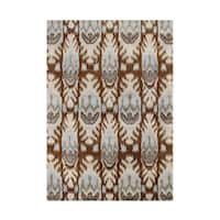 Alliyah Rugs Ikat Brown Sugar New Zealand Wool Blend Area Rug - 9' x 12'