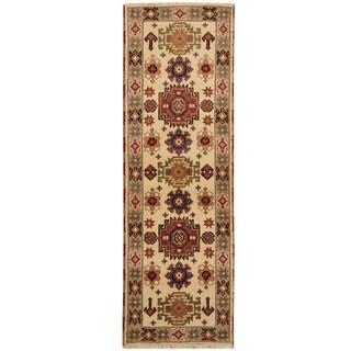 Herat Oriental Indo Hand-knotted Tribal Kazak Wool Runner (2'1 x 6'6)