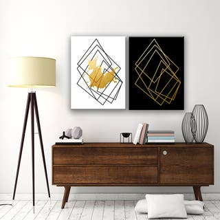 Carson Carrington Gilt Mod I/IB' 2-piece Wrapped Canvas Wall Decor