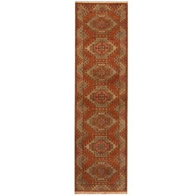 Handmade One-of-a-Kind Kazak Wool Runner (India) - 2'8 x 9'10