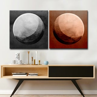 Ready2HangArt Wrapped Canvas 'Phases I/II' 2 Piece Wall Décor