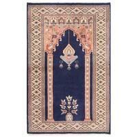 Handmade Herat Oriental Pakistani Bokhara Wool Rug - 2'7 x 4' (Pakistan)