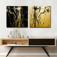Ready2HangArt Wrapped Canvas 'Surge I/II' 2 Piece Wall Décor