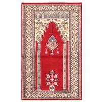 Handmade Herat Oriental Pakistani Bokhara Wool Rug - 2'7 x 4'1 (Pakistan)