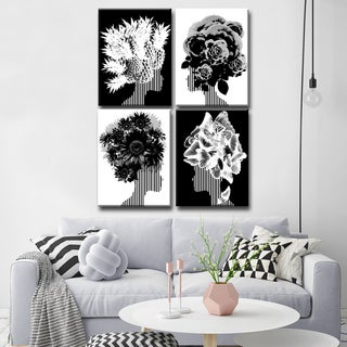 Ready2HangArt Wrapped Canvas 'Mod Swag' Four Piece Wall Decor