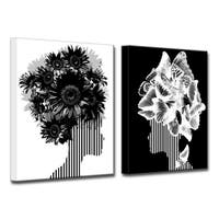 Ready2HangArt Wrapped Canvas 'Mod Swag II' 2 Piece Wall Decor