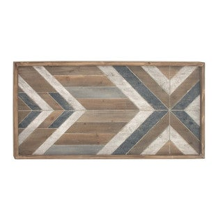 Aztec Wooden Wall Panel Decor 46W, 23H