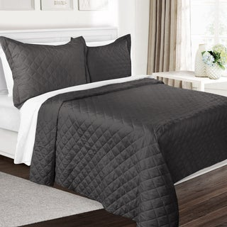 Clara Clark 3-Piece Over-Sized Quilt-Coverlet 3 Piece Set