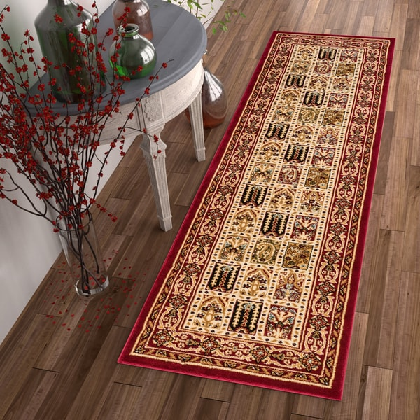 "Well Woven Agra Traditional Classic Bakhtiari Runner Rug - 2'3"" x 7'3"""