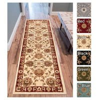 Well Woven Agra Traditional Ushak Oriental Rug - 2'8 x 12'