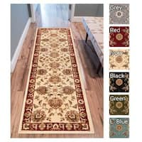 "Well Woven Agra Traditional Ushak Oriental Oversized Runner Rug -  2'7"" x 12' runner"