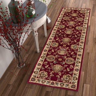"""Well Woven Agra Traditional Ushak Oriental Runner Rug - 2'8"""" x 12' (4 options available)"""