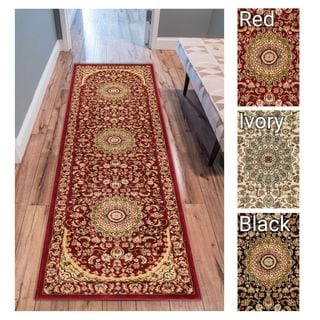 Well Woven Agra Traditional Persian Medallion Rug (2'7 x 12' Runner)