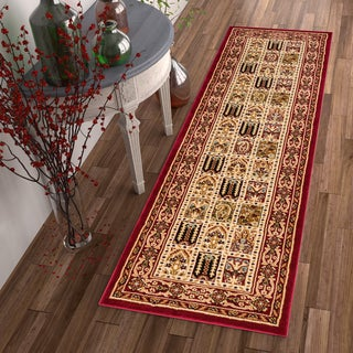 Well Woven Agra Traditional Classic Bakhtiari Rug (2'7 x 12' Runner)