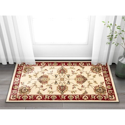 """Well Woven Agra Traditional Ushak Oriental Mat Accent Rug - 2'3"""" x 3'11"""""""