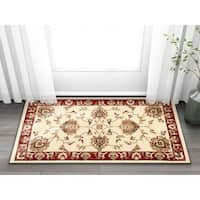 "Well Woven Agra Traditional Ushak Oriental Mat Accent Rug - 2'3"" x 3'11"""