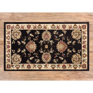 Well Woven Agra Traditional Ushak Oriental Area Rug - 2'3 x 3'11 (Option: Black)