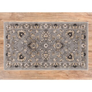 Well Woven Agra Traditional Ushak Oriental Area Rug - 2'3 x 3'11 (Option: Grey)