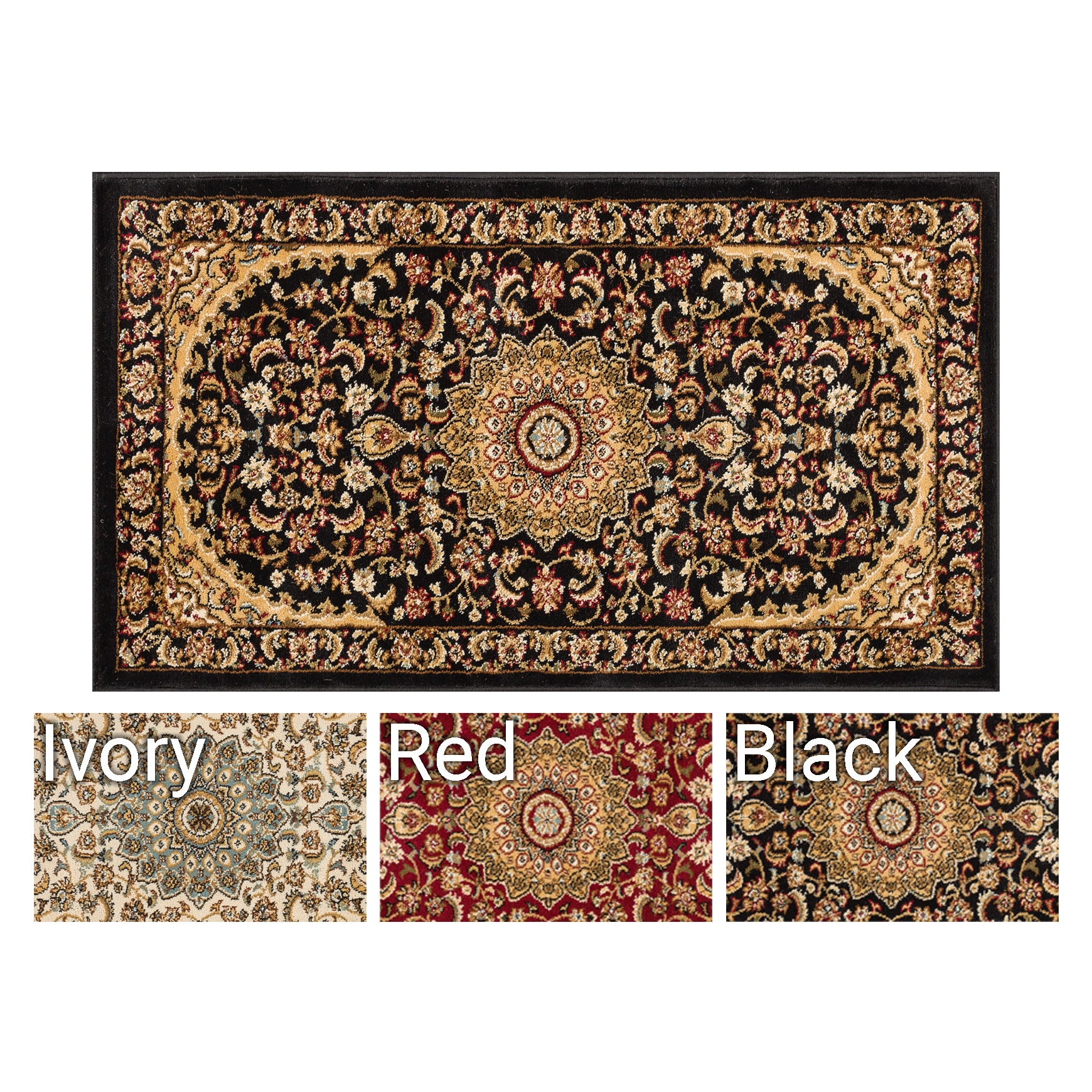 Well Woven Agra Traditional Persian Medallion Area Rug (2...