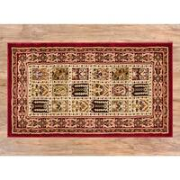 "Well Woven Agra Traditional Classic Bakhtiari Mat Accent Rug - 2'3"" x 3'11"""