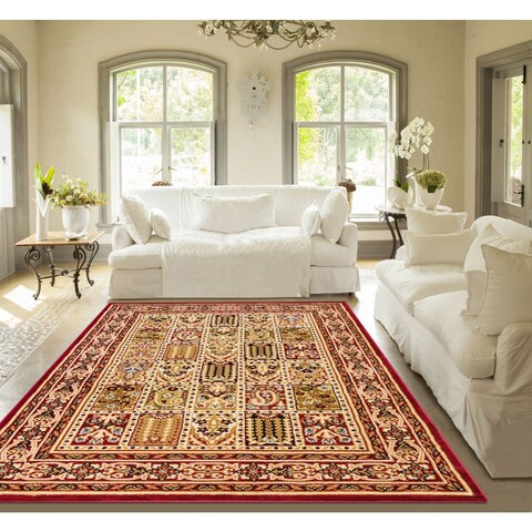Well Woven Agra Traditional Classic Bakhtiari Mansion Area Rug - 11' x 15'