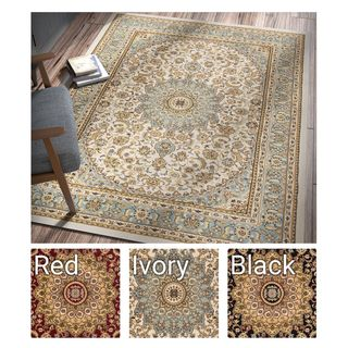 Well Woven Agra Traditional Persian Medallion Area Rug (6'7 x 9'3 )