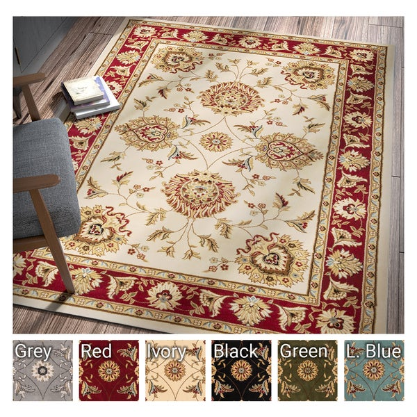 Well Woven Agra Traditional Ushak Oriental Area Rug - 7'10 x 10'6