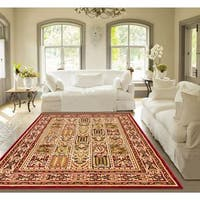 Well Woven Agra Traditional Classic Bakhtiari Area Rug - 7'10 x 10'6