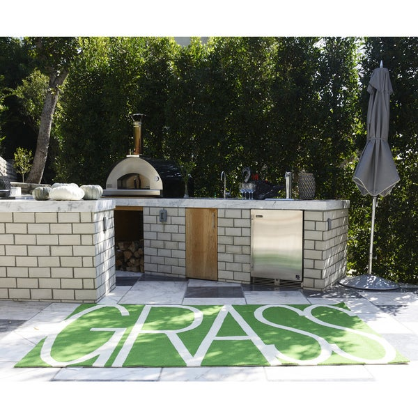 Novogratz by Momeni Portico Indoor/Outdoor Green Grass Rug - 8' x 10'