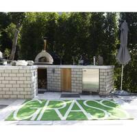 Novogratz by Momeni Portico Indoor/Outdoor Green Grass Rug (8' x 10') - 8' x 10'