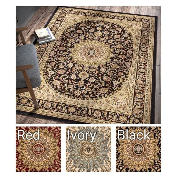 "Well Woven Agra Traditional Persian Medallion Area Rug - 9'3"" x 12'6"""