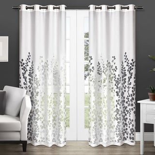 ATI Home Wilshire Burnout Sheer Grommet Top Curtain Panel Pair (As Is Item)