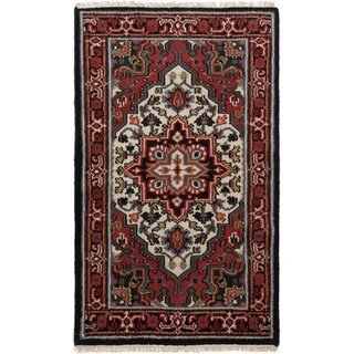 ecarpetgallery Hand-Knotted Royal Heriz Red  Wool Rug (3'1 x 5'0)