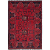 eCarpetGallery Finest Khal Mohammadi Red Wool Hand-knotted Rug (3'3 x 4'10)