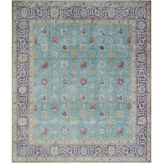Vintage Distressed Mounia Lt. Blue/Purple Rug (9'10 x 11'1)