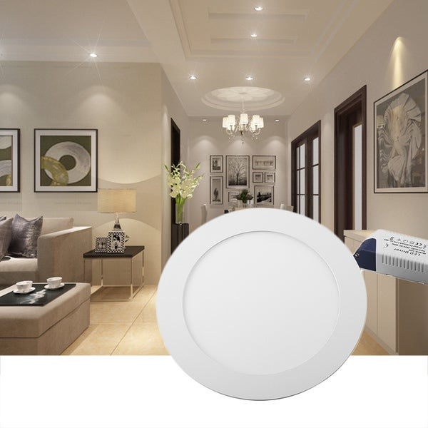 Shop 12W 860LM Bright Round LED Recessed Ceiling Panel