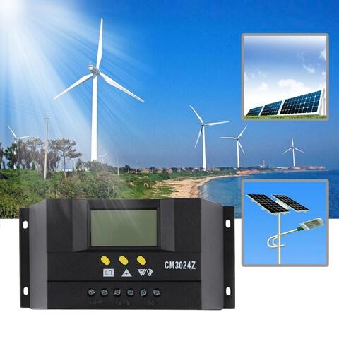 LCD 30A 12V/24V Solar Panel Controller