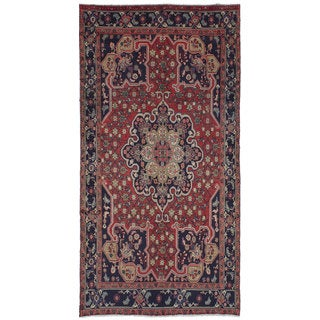 eCarpetGallery Koliai Red Wool Hand-Knotted Rug (5'1 x 10'6)