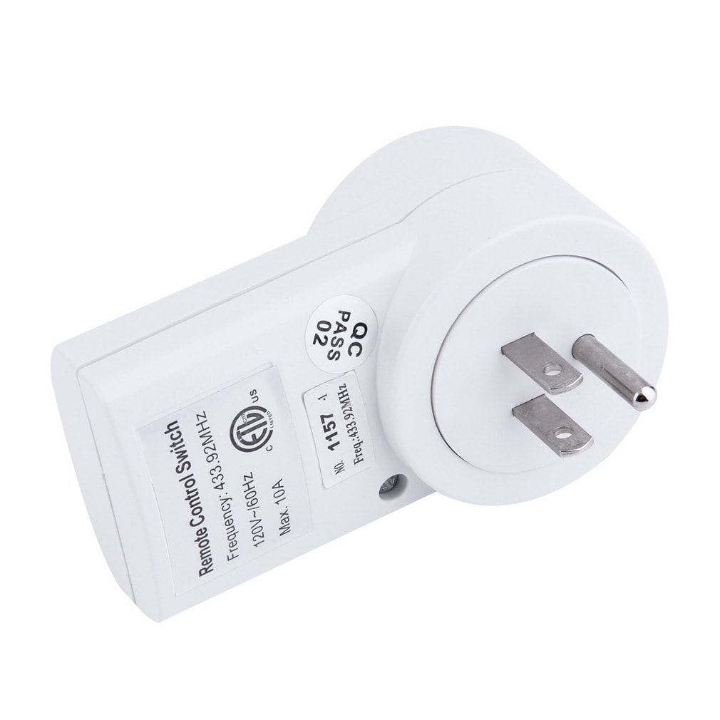 Wireless Remote Control AC Power Outlet US Plug Switch On...