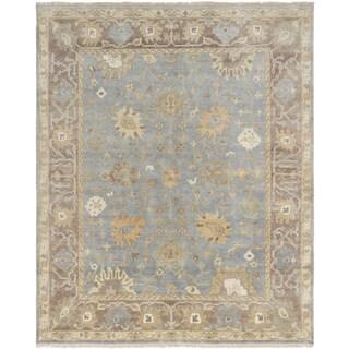 eCarpetGallery Hand-knotted Royal Ushak Blue/Cream/Tan Wool Rug (8'0 x 9'8)