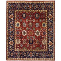 eCarpetGallery Hand-knotted Serapi Heritage Red Wool Rug - 8'1 x 9'10
