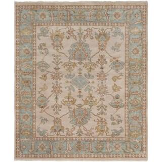 eCarpetGallery Hand-knotted Royal Ushak Ivory Wool/ Cotton Area Rug (8'4 x 9'11)